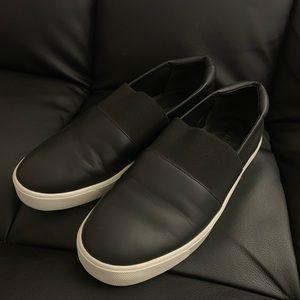 Vince women leather slip on sneakers